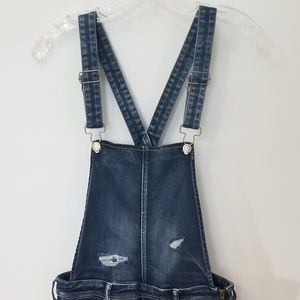 American Eagle Women's Distressed Stretch Overalls